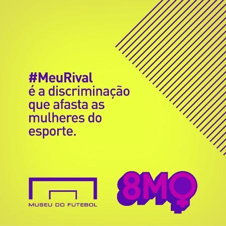 Campanha do Museu do Futebol pelo Dia da Mulher - Reprodução