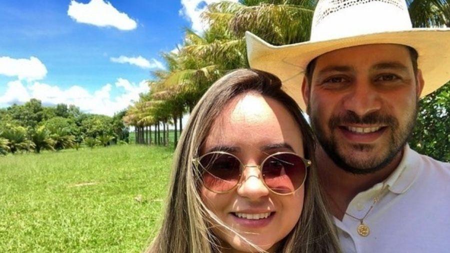 Caio e a noiva, Waléria - Reprodução/Instagram