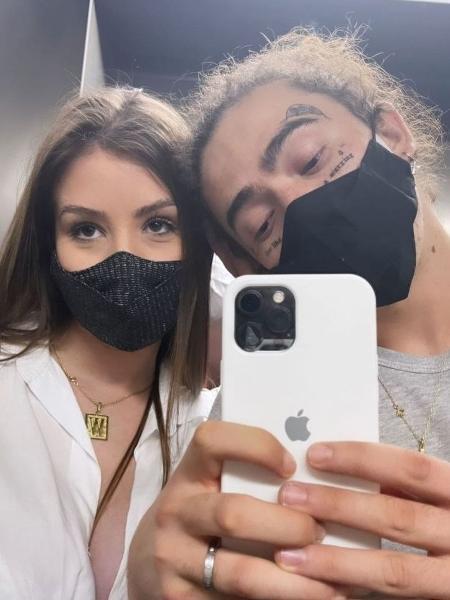 Whindersson exibe novas tatuagens em selfie com Maria Lina - Reprodução/Instagram