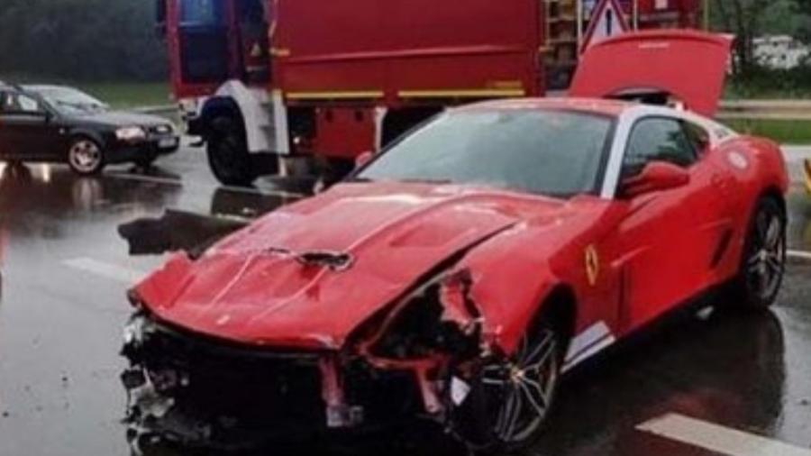 Ferrari 599 GTB 60F1 Alonso Edition é destruída na Alemanha - Reprodução