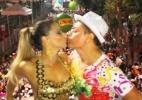 Vivi Araújo dá selinho em David Brazil no Carnaval de Salvador - Reprodução/Instagram/davidbrazil24