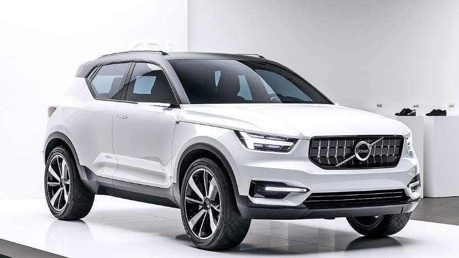 """Aqui temos o """"extra small"""" XC40, conforme a Volvo o chama, mostrado ainda em fase de protótipo - Divulgação"""
