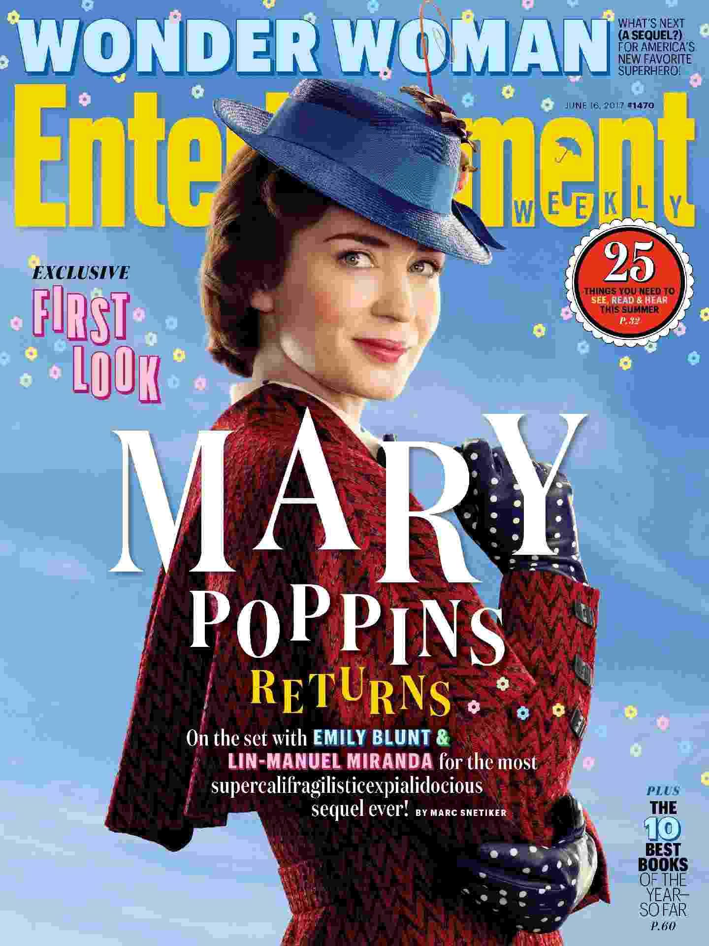 Emily Blunt no papel de Mary Poppins - Reprodução