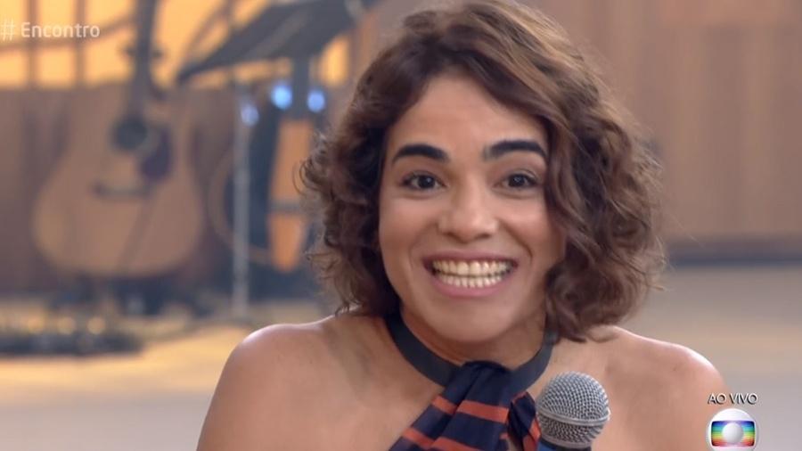 """Luciana, viúva de Domingos Montagner no """"Encontro"""" - Reprodução/Globo"""