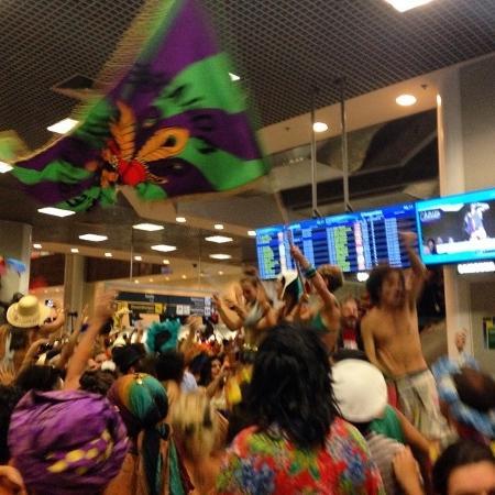 Invasão do aeroporto Santos Dumont, em 2015 - Reprodução/Instagram