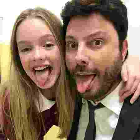 Pietra Quintela e Danilo Gentili posam no SBT - Reprodução/Instagram/danilogentili