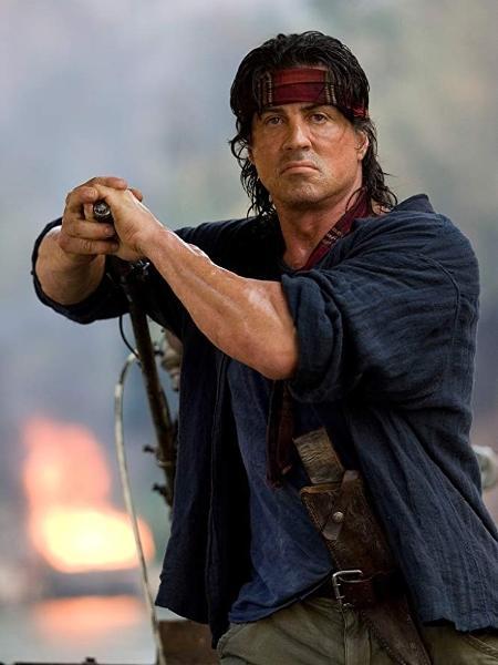 """Sylvester Stallone em """"Rambo IV"""" (2008) - Reprodução"""