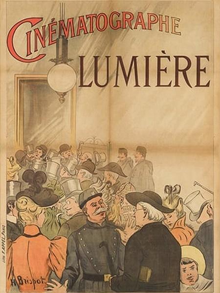 Pôster da primeira sessão de cinema, em 1895 - Reprodução