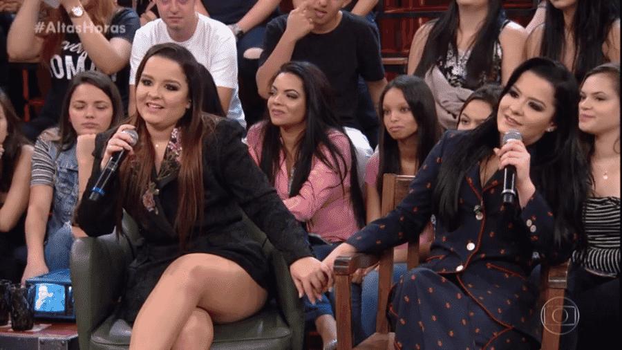 """Maiara e Maraisa participaram do """"Altas Horas"""" e falaram de começo de carreira - Reprodução/Globo"""