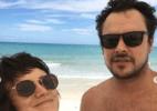 Bianca Bin e Sérgio Guizé curtem férias na Bahia