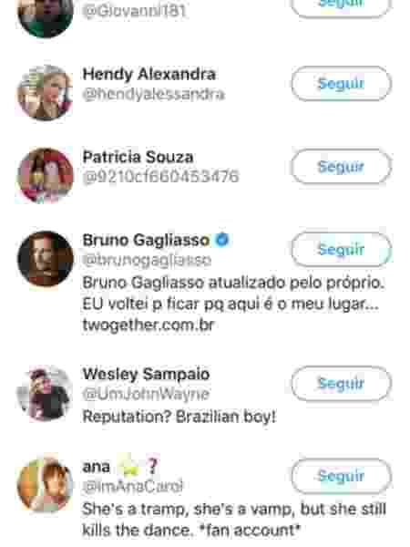 """Bruno Gagliasso curte publicação que critica """"O Sétimo Guardião"""" - Reprodução/Twitter"""