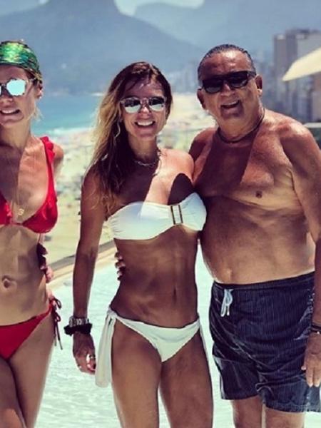 Galvão Bueno curte praia em Ipanema, no Rio - Reprodução/Instagram