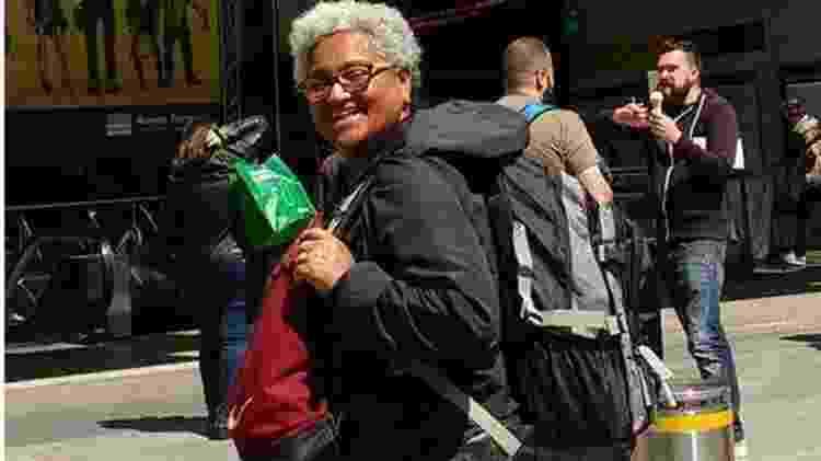 A aposentada cearense rodou países como a Itália só com o seu 'mochilão' - Reprodução/Facebook - Reprodução/Facebook