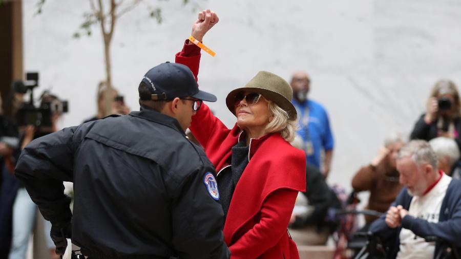A atriz Jane Fonda foi presa quatro vezes desde outubro - Siphiwe Sibeko/Reuters