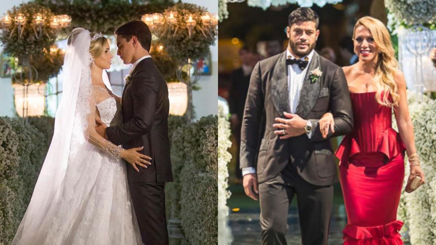 Camila Ângelo se casava em 2015; Hulk e Iran eram padrinhos - Reprodução/Site Paulo Germano/Fernando Bronzeado