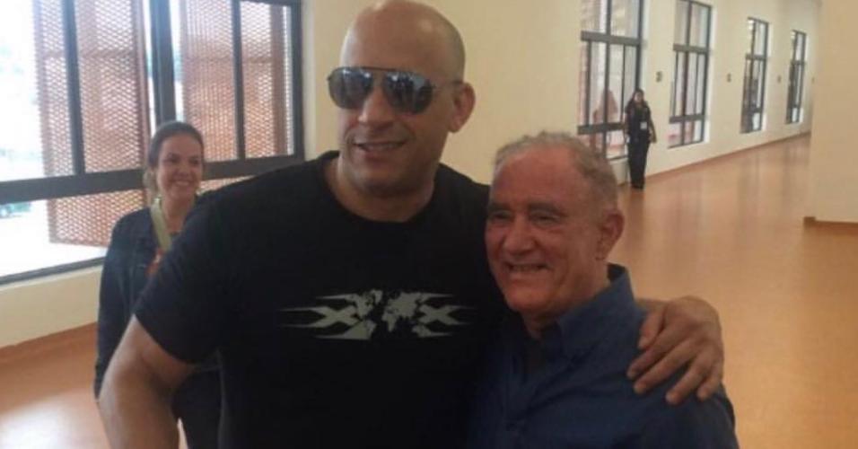 Van Diesel e Renato Aragão na CCXP