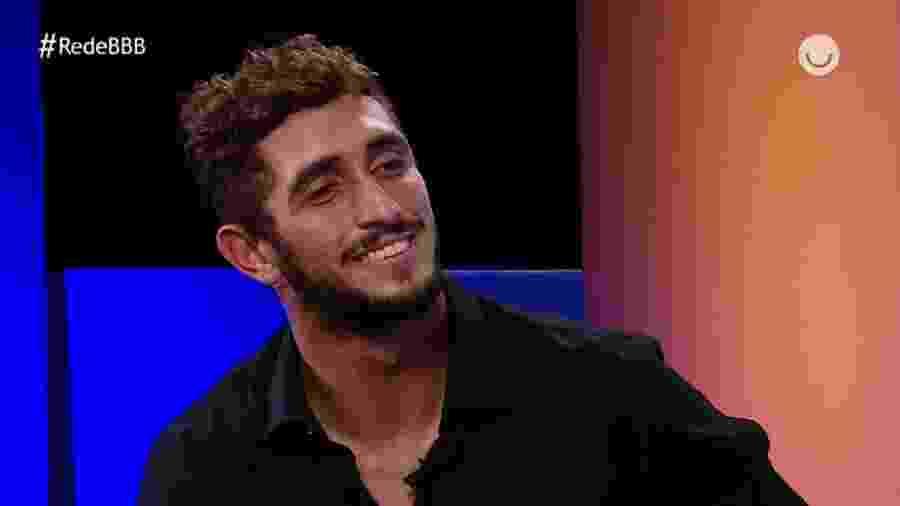 Lucas Chumbo durante o Rede BBB - Reprodução/Globoplay