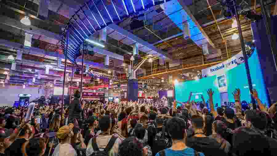 Estande do Facebook Gaming na Brasil Game Show (BGS) 2019 - Bruno Contrino/BGS