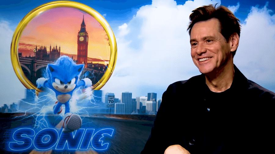 """Jim Carrey interpreta o vilão Dr. Ivo Robotnik em """"Sonic: O Filme"""" - Reprodução/YouTube"""