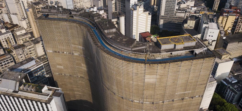 Vista aérea do edifício Copan, no centro de São Paulo - Eduardo Knapp/Folhapress