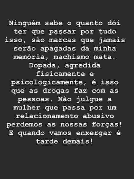 post_Sabrina_violência - reprodução/ Instagram - reprodução/ Instagram