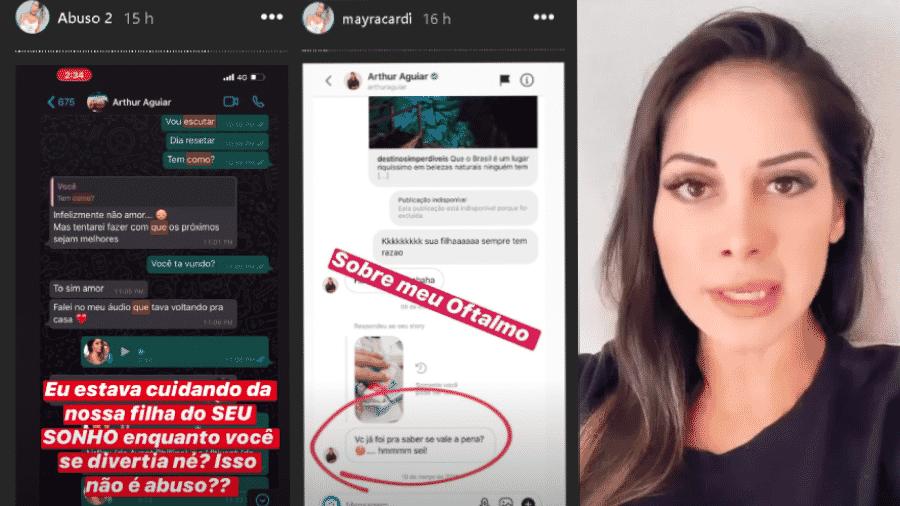 Novos posts de Mayra Cardi expondo supostos abusos do ex-marido, o ator Arthur Aguiar - Reprodução/Instagram