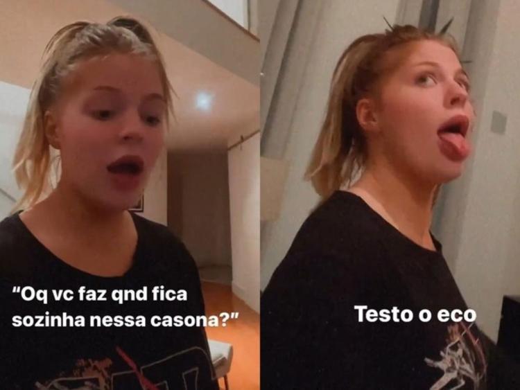 Luísa Sonza testa eco de mansão - Reprodução/Instagram@luisasonza - Reprodução/Instagram@luisasonza