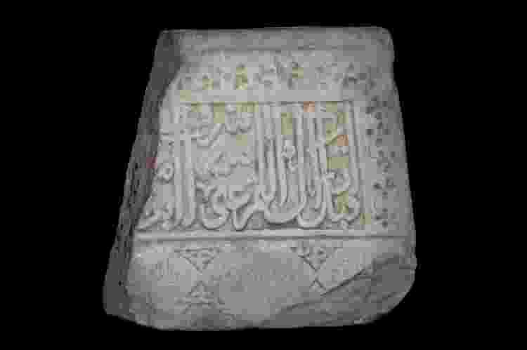 Placa de mármore do século 16, de Gásni, no Afeganistão - Robert Nickelsberg/Getty Images - Robert Nickelsberg/Getty Images