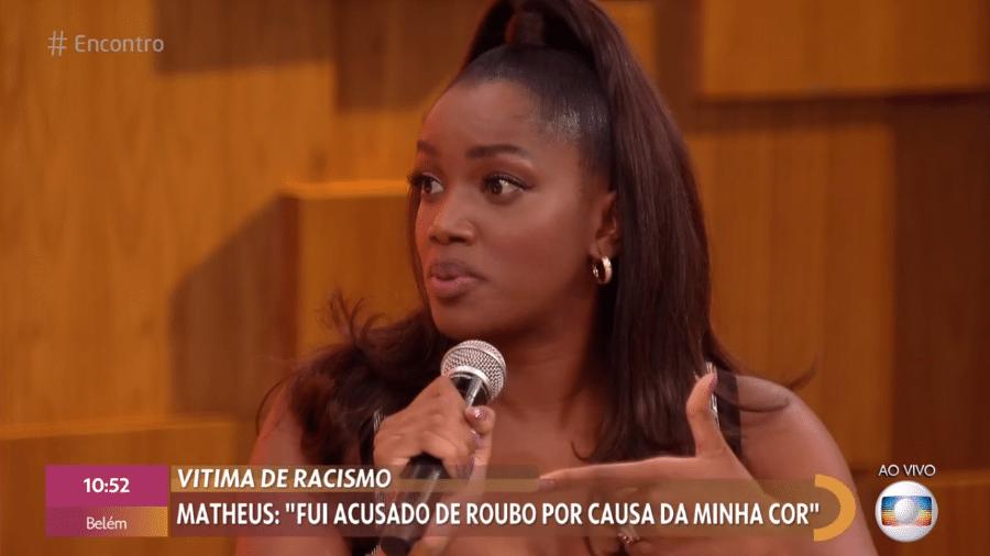 """Iza no """"Encontro com Fátima Bernardes"""" - Reprodução / TV Globo"""