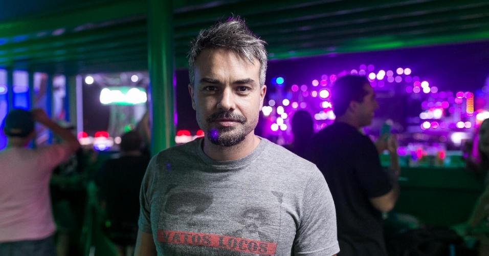 18.set.2015 - O ator Marcio Kieling também circulou pelos camarotes na primeira noite do Rock in Rio