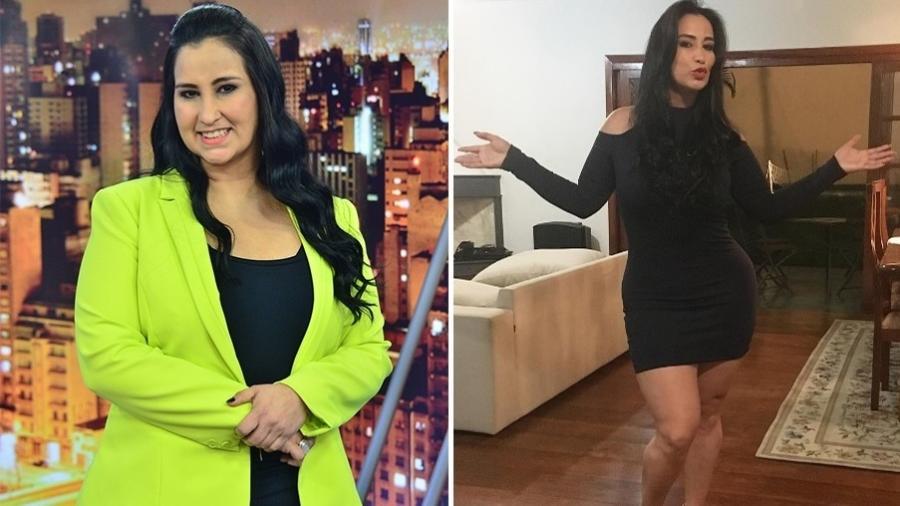Antes e depois da jornalista Fab?ola Gadelha, que emagreceu 30 kg  - Antonio Chahestian/ Instagram/ Montagem/ UOL