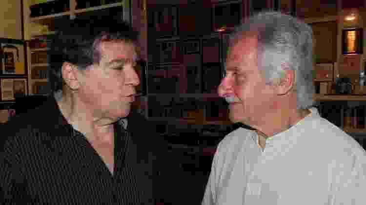 Jerry Adriani e Pete Best - Reprodução/Facebook/Edu Henning - Reprodução/Facebook/Edu Henning
