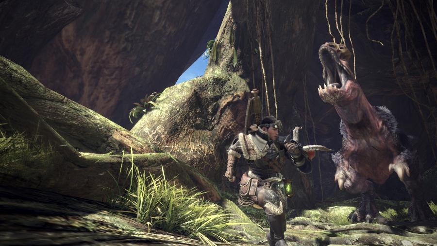 """""""Monster Hunter: World"""" foi um dos destaques da Capcom no evento e terá a missão de tornar a franquia popular ao redor do mundo - Reprodução"""