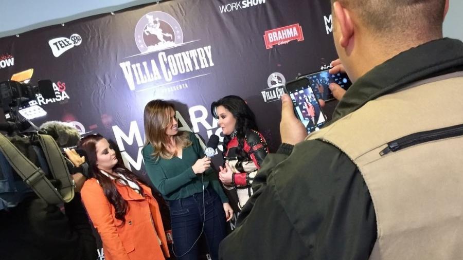 Maiara e Maraisa dão entrevista antes de show no Villa Country, em São Paulo - Neffer Wisley/Villa Country