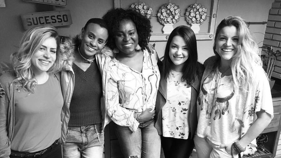 Integrantes do Rouge: Luciana Andrade, Aline Wirley, , Karin Hils, Li Martins e Fantine Tho - Reprodução/Instagram