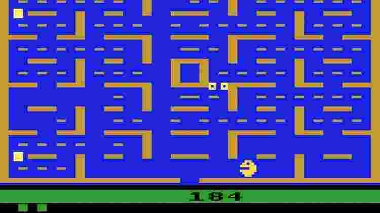 """""""Pac-Man"""" do Atari 2600 foi um dos primeiros grandes desapontamentos na história dos games - Reprodução"""