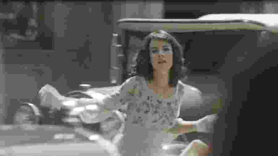 """Lucinda (Andreia Horta) simula atropelamento em """"Tempo de Amar"""" - Reprodução/GShow"""