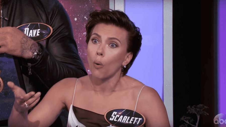 Scarlett Johansson no programa de Jimmy Kimmel - Reprodução
