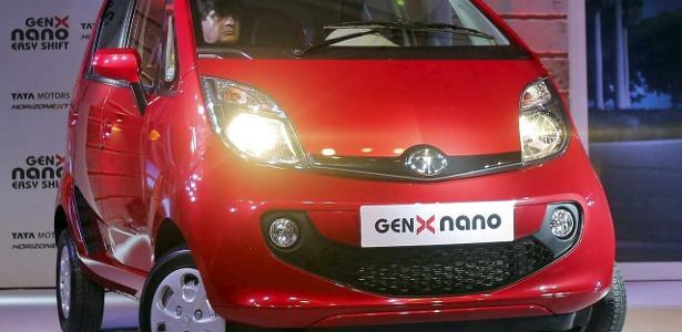 Tata Nano GenX, última remodelação do subcompacto, em 2015... com o passar do tempo, carrinho perdeu o sentido