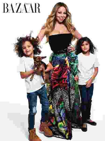 Mariah Carey com os filhos - Reprodução/Harper's Bazaar - Reprodução/Harper's Bazaar