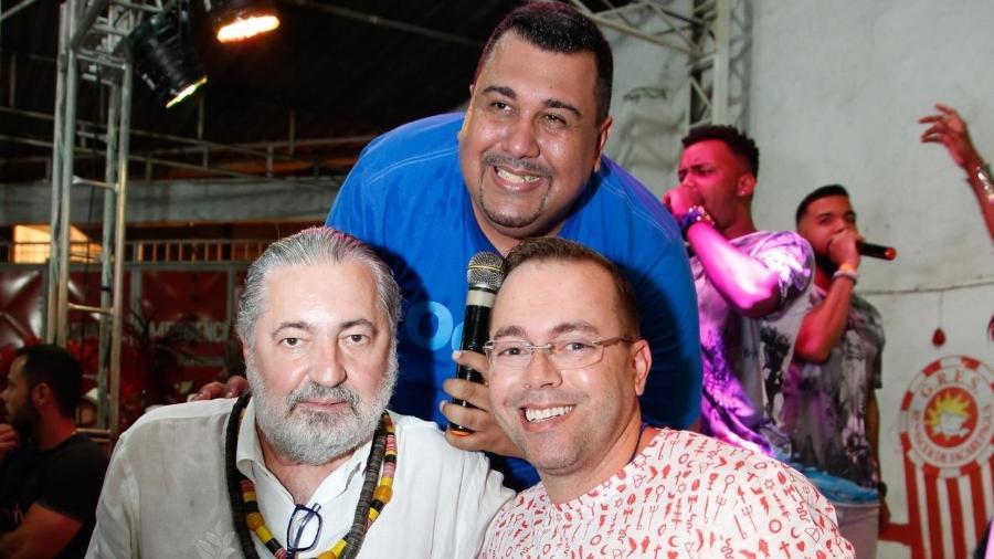 Trio de compositores da Renascer de Jacarepaguá - Leo Cordeiro/Divulgação