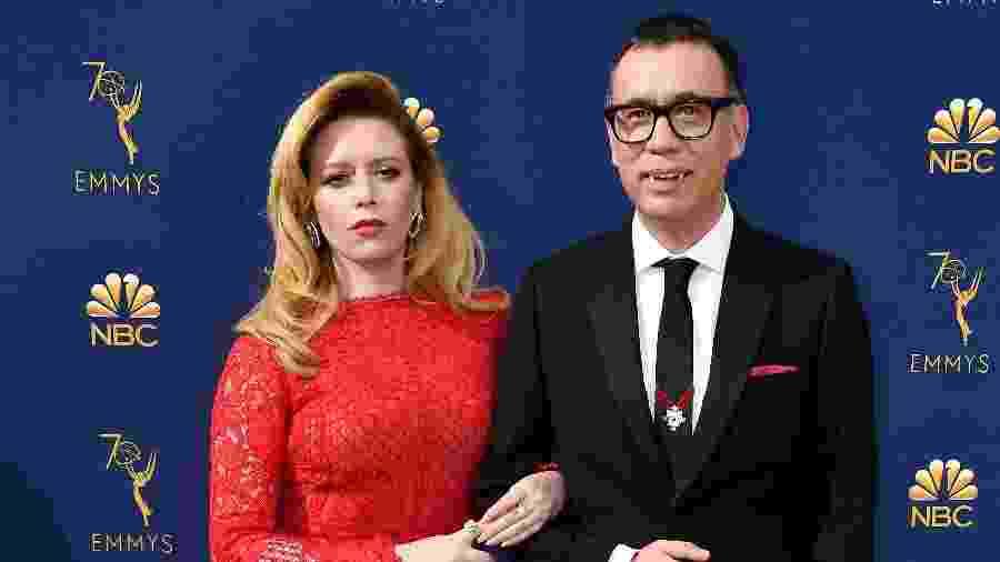 Natasha Lyonne e Fred Armisen chegam para cerimônia do Emmy, nos Estados Unidos - Frazer Harrison/Getty Images