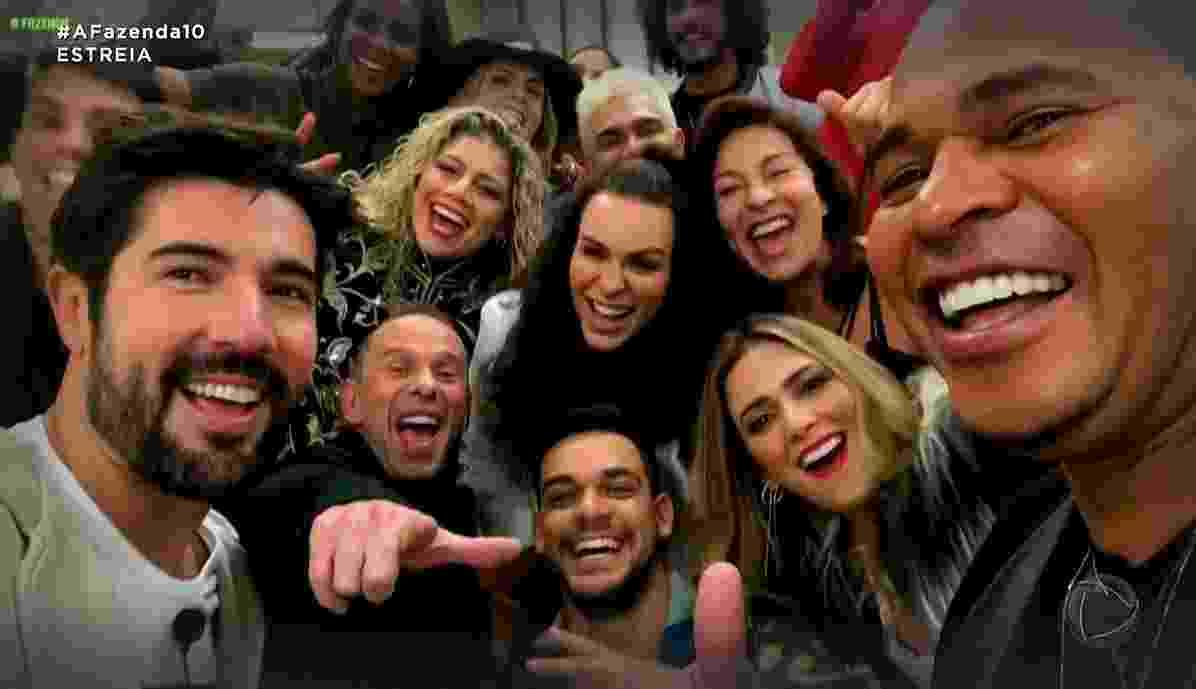 """Os participantes de """"A Fazenda 10"""" - Reprodução/RecordTV"""