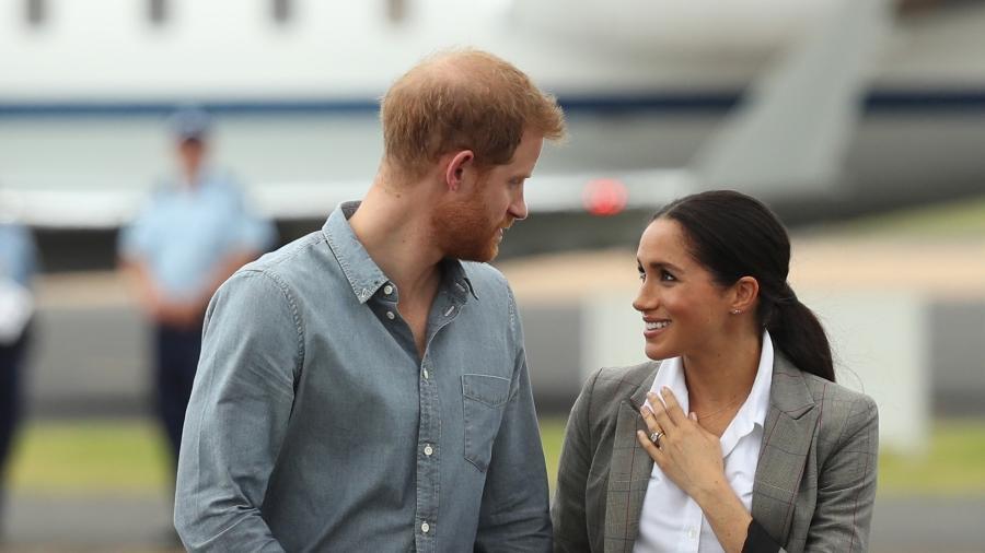 Meghan e Harry em visita à cidade de Dubbo, na Austrália - Getty Images