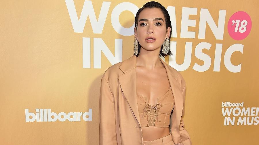 A cantora Dua Lipa no Billboard Women In Music 2018 - Getty Images