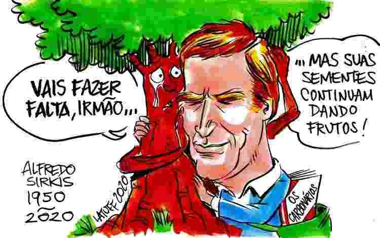 Charge de Carlos Latuff em homenagem ao ex-deputado federal Alfredo Sirkis - Carlos Latuff/Cortesia Ecoa - Carlos Latuff/Cortesia Ecoa
