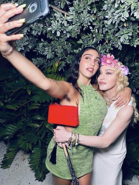 Lourdes Maria e Madonna em post nas redes sociais - Reprodução/Instagram