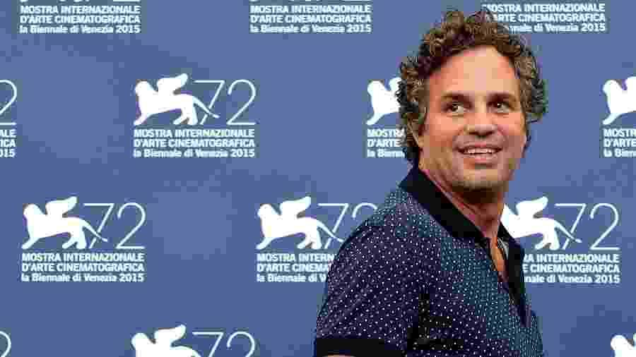 "Mark Ruffalo promove o filme ""Spotlight"" no Festival de Veneza - Tiziana Fabi/AFP"