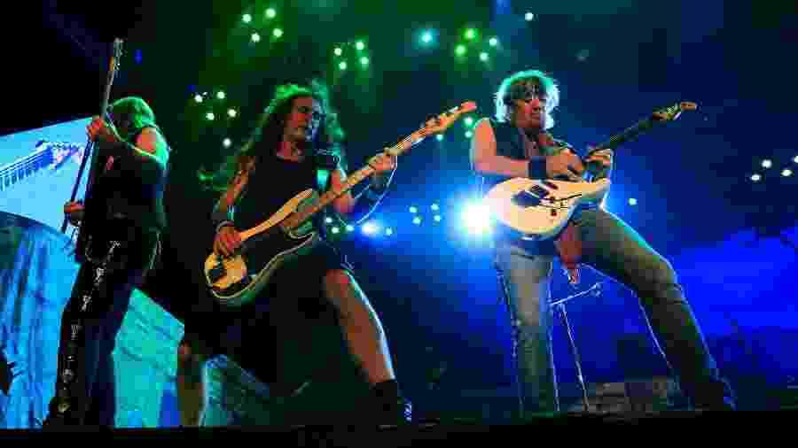 "Iron Maiden na turnê brasileira de ""The Book of Souls"", em 2016 - Douglas Shineidr/UOL"