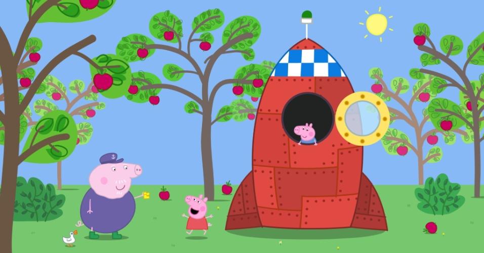 """Cena do filme """"Peppa Pig - As Botas de Ouro e Outras Histórias"""""""